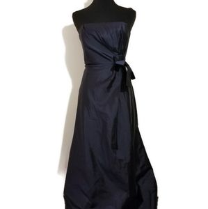 NWT Talbots gown dress blue pure silk sz 10P